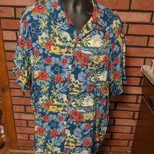 Original Disney Parks floral Hawaiian Shirt